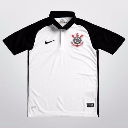 5b38b32321 Camisa Nike Corinthians I 15 16 Nº 10 - Infantil Tam. M - R  120