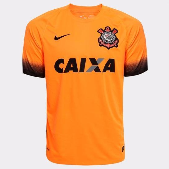 Camisa Nike Corinthians Laranja 2017 + Frete Grátis - R  99 0ccc72874e714