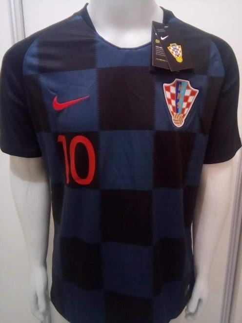 Camisa Nike Croácia Away 2018 Oficial Modric 10 - Azul preta - R ... 7859d2c55a619