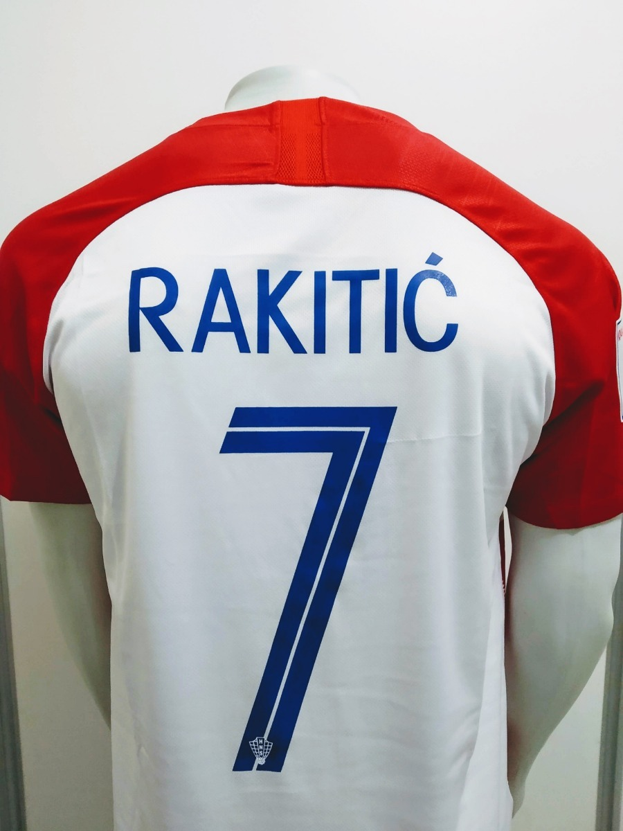 Camisa Nike Croácia Home 2018 Rakitic 7 Oficial - Final Copa - R ... a9c7f8281a3f2