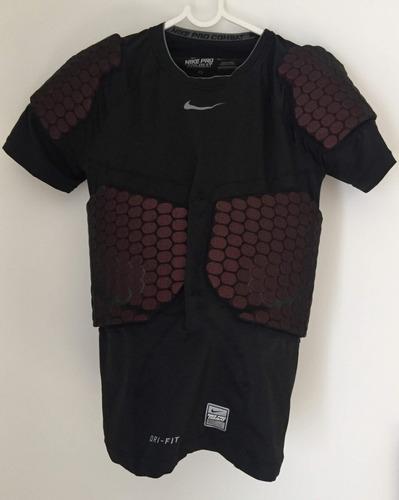 camisa nike de proteção futebol americano com pads