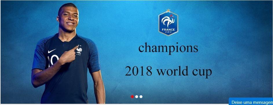 39a3ee3a44 camisa nike frança campeã copa mundo 2018 - frete gratis. Carregando zoom.