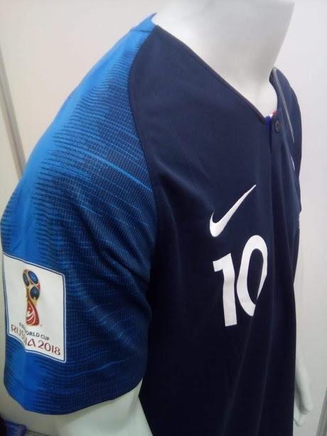 Camisa Nike França Home Mbappe 10 2018 Oficial - Final Copa - R  169 ... 0658ed1fddbfa