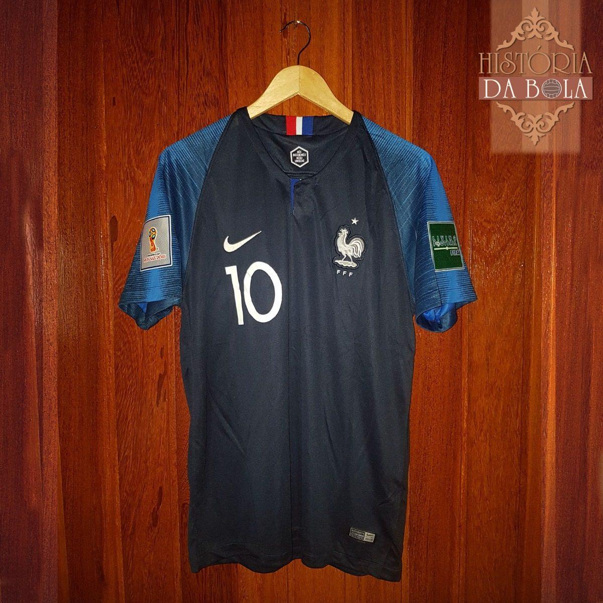 dc78f5640d095 Camisa Nike Futebol França Copa Do Mundo 2018 10 Mbappe - R  159