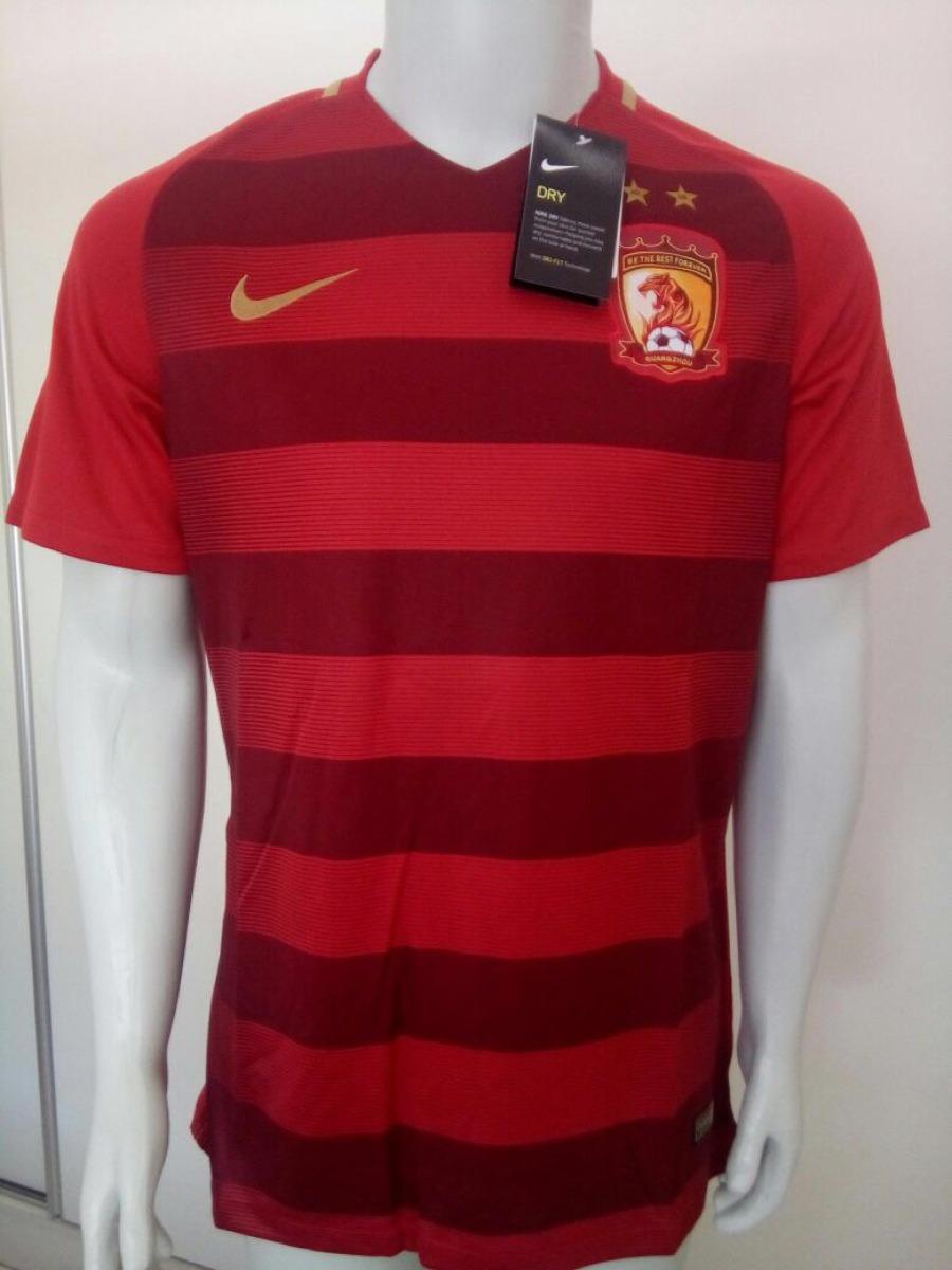 ff7d4c4bb Camisa Nike Guangzhou Evergrande 2018 Home S n - Vermelha - R  140 ...