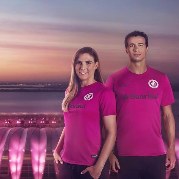 Internacional Outubro Nike Camisa Masculina Rosa Original c3jL5AqR4