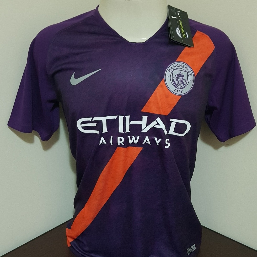 4883be47ee Camisa Nike Manchester City Third 18 19 - Ggg - R  149