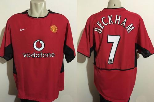 camisa nike manchester united beckham 2002 made in uk