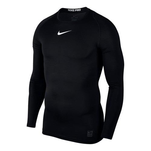 Camisa Nike Manga Longa Termica Compressão Original Preta Nf - R  120 bb8d9c3bdacaa