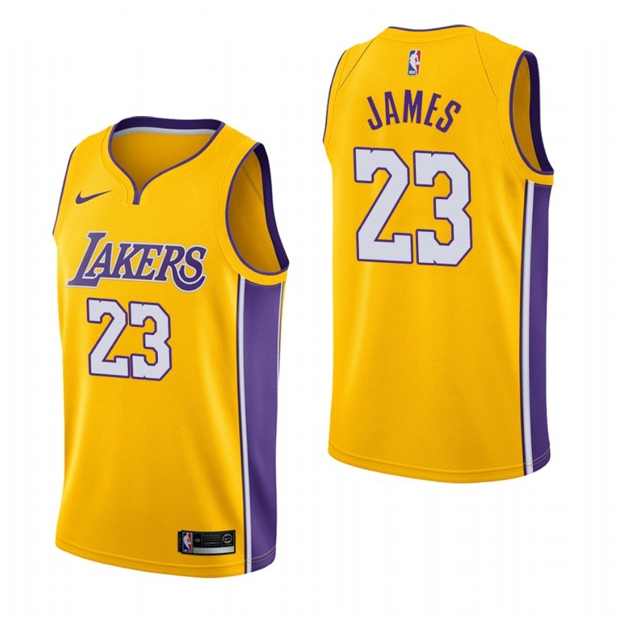 232a5b5d7 camisa nike nba lakers m-g 2018 amarela lebron james. Carregando zoom.