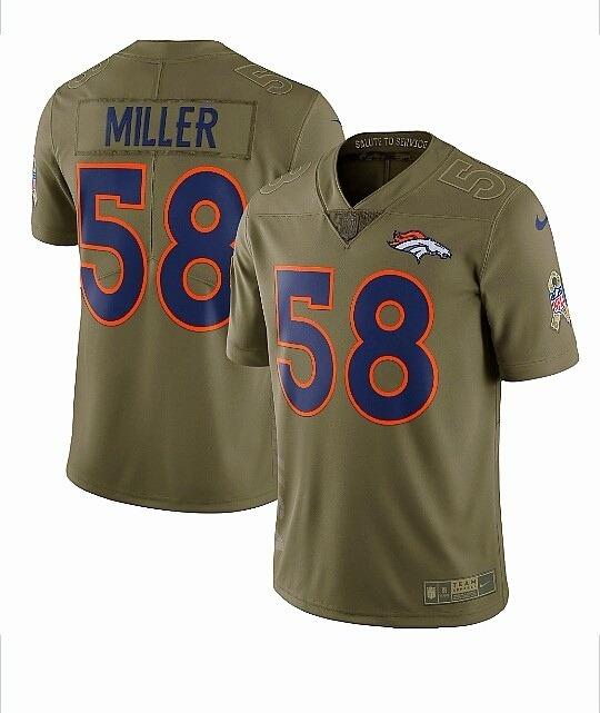 Camisa Nike Nfl Denver Broncos Von Miller Sts 2017 18 - R  219 5b589127ff30b