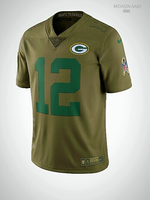 the latest 6aea7 f83e0 Camisa Nike Nfl Packers Aaron Rodgers Salute To Service 2018