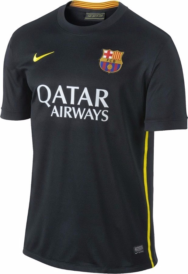 camisa nike oficial barcelona away preta 2013 2014. Carregando zoom. ae2de43321543