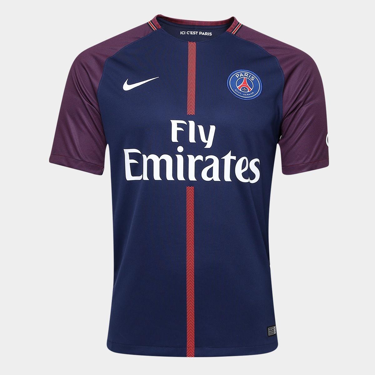 camisa nike paris saint germain home 2018 n° 10 - neymar jr. Carregando  zoom. 34fb1111e1655