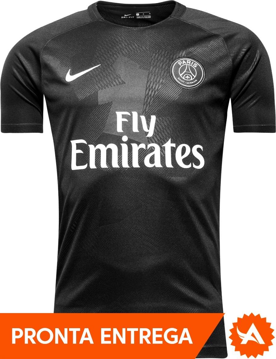 85eadeb73 camisa nike paris saint germain psg preta 2018 frete grátis. Carregando  zoom.