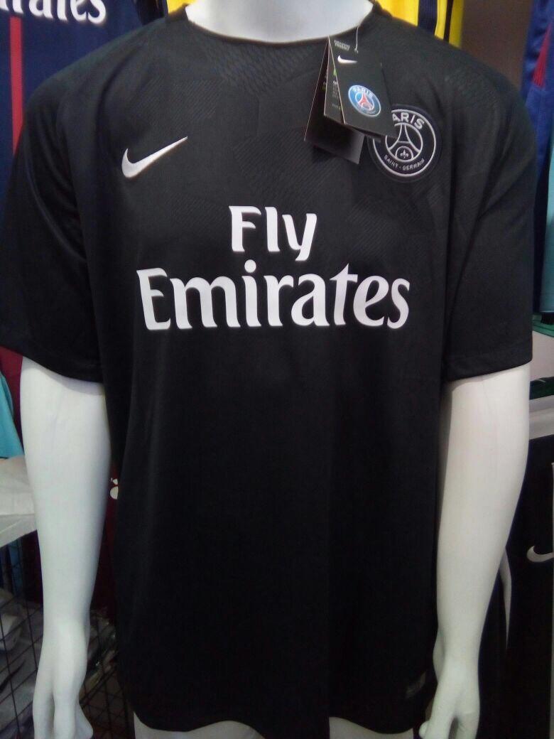Camisa Nike Paris Saint-germain Third 17 18 Neymar 10-preta - R  130 ... 71f1eaa5f5680