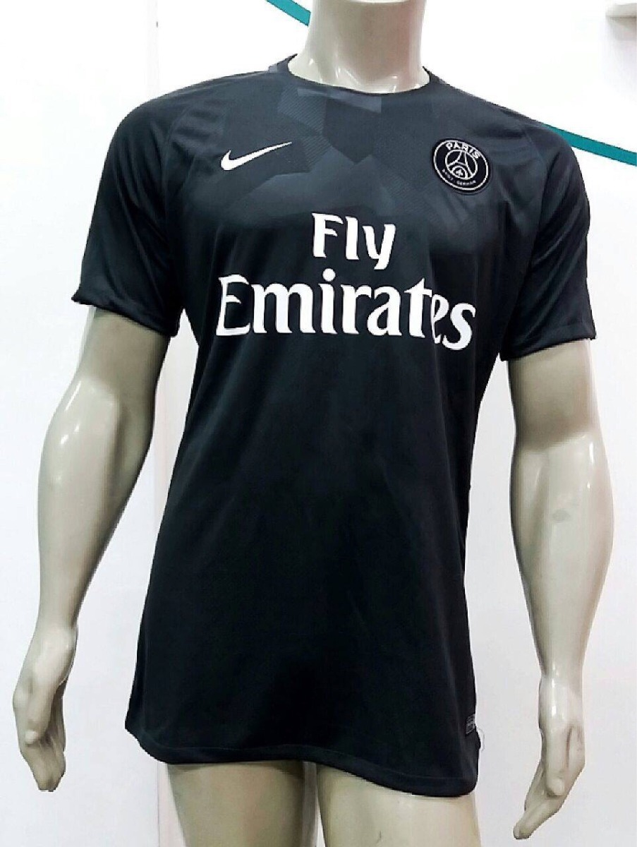 Camisa Nike Paris Saint-germain Third 2018 - Preta - R  120 3cd7c53d7ea28
