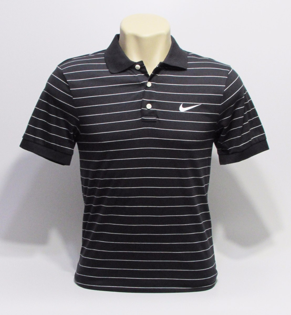 Camisa Nike Polo Preta Listrada Masculina De 189 8d29d41bc2bf2