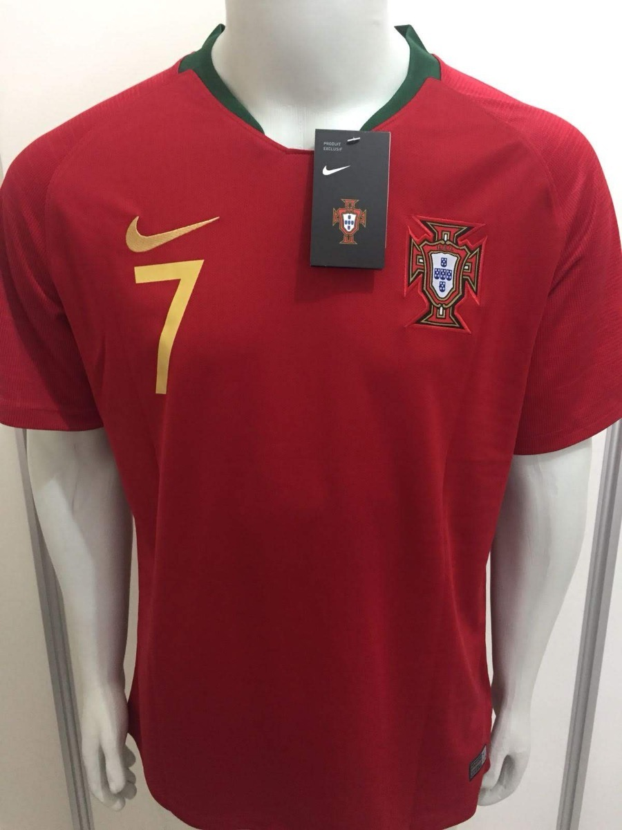camisa nike portugal home 2018 cristiano ronaldo cr7 oficial. Carregando  zoom. 671af6fe23076