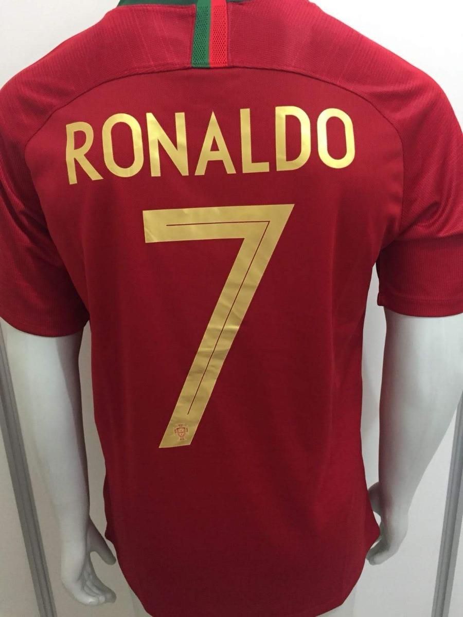 camisa nike portugal home 2018 cristiano ronaldo cr7 oficial. Carregando  zoom. df447c23bcede