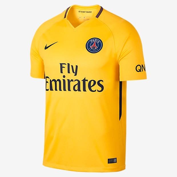 a6d995c93 Camisa Nike Psg Neymar Jr Amarela 17 18 Nova - R  59