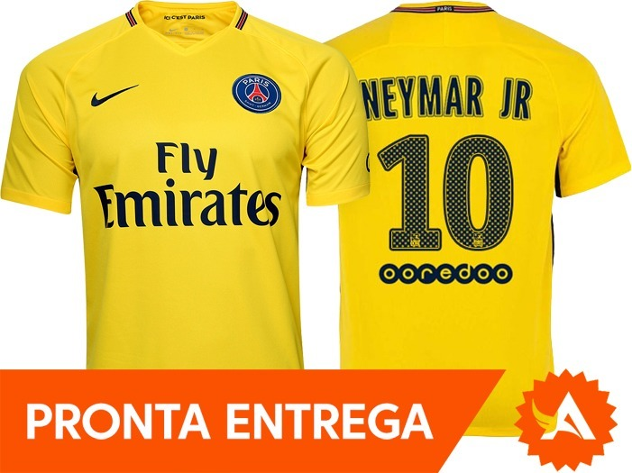 Camisa Nike Psg Paris Saint Germain 2018 Away Nº10 Neymar Jr - R ... d826a84da86e8