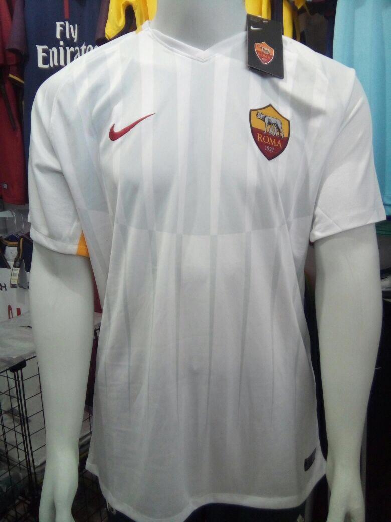 ... Masculino - Amarelo 7cfb983d531784  Camisa Nike Roma Away 2018 S n°-  Torcedor - Branca - R 100 b723350f032e4