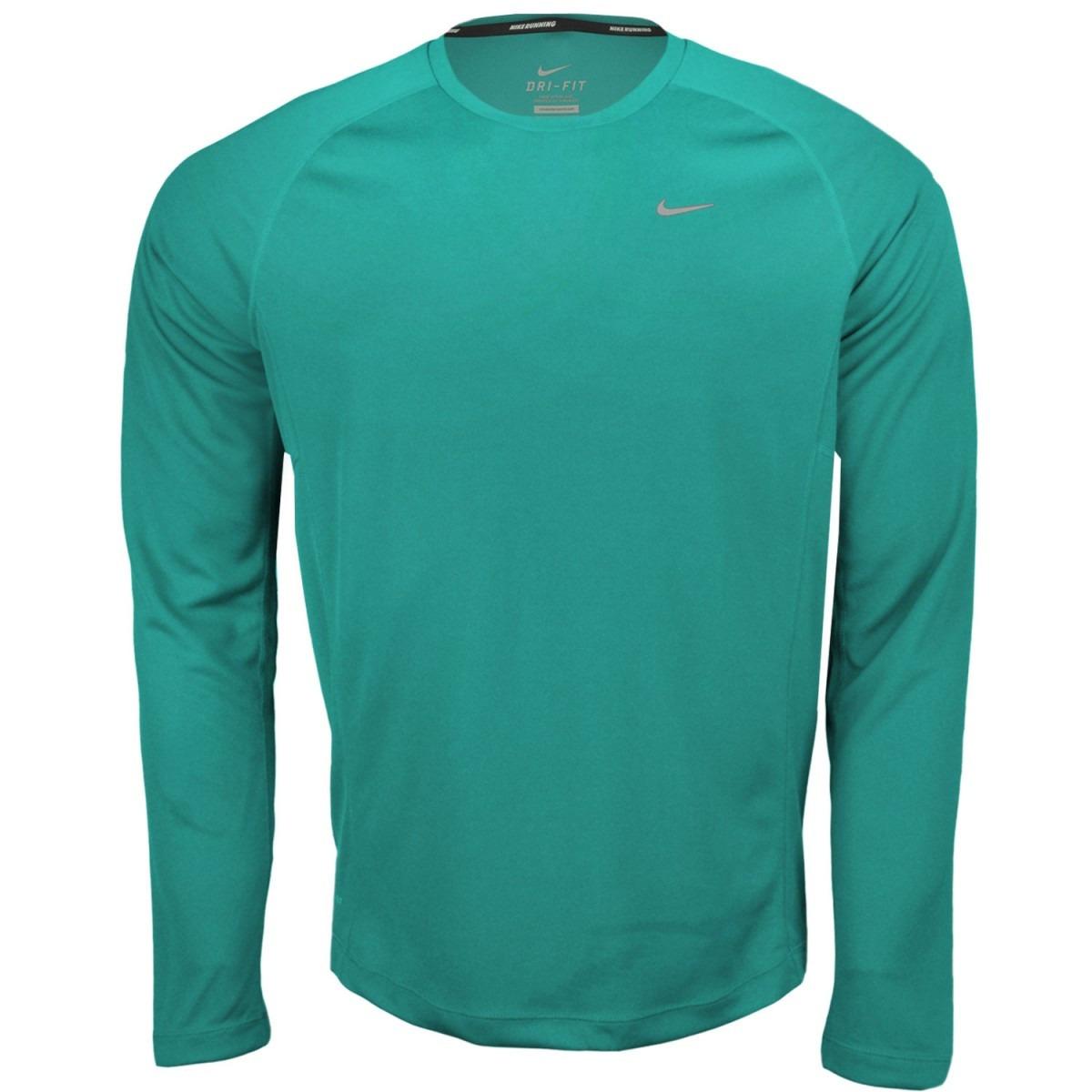 Camisa Nike Running Dri Fit Miler Manga Longa De 199 e9f7c64fd82ef