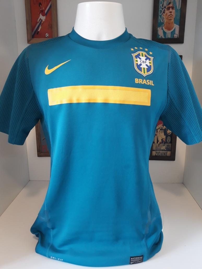 c51c2c1cd3 camisa nike selecao brasil azul lisa. Carregando zoom.