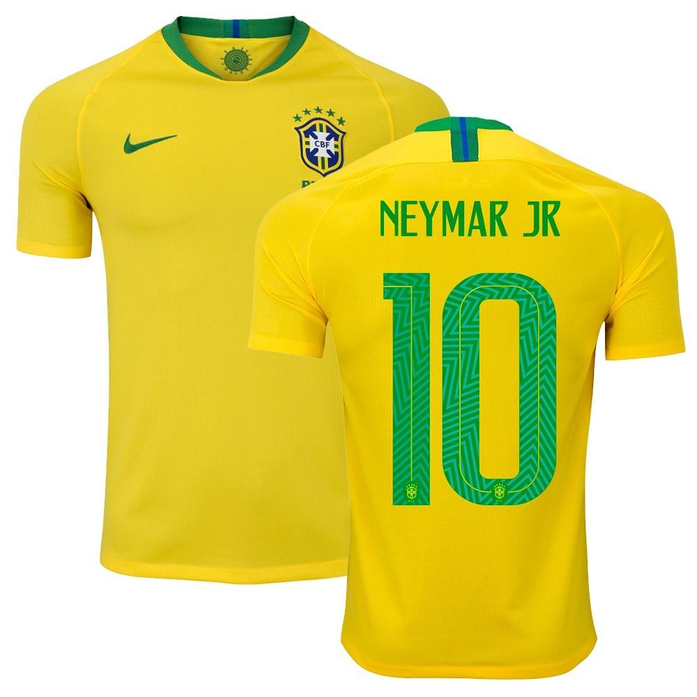 camisa nike seleção brasil 1 home 2018 neymar jr 10 original. Carregando  zoom. 4d395a93b2519