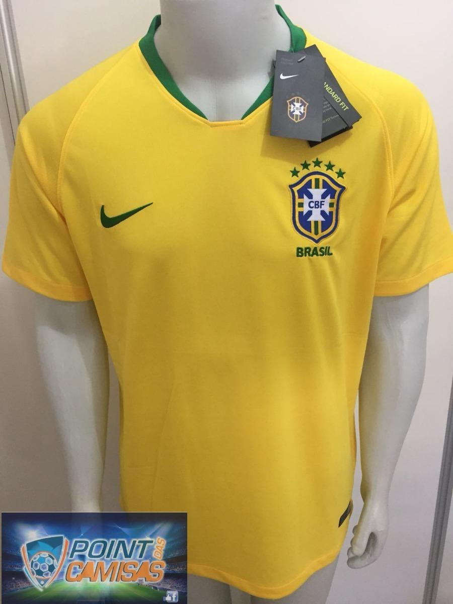 camisa nike seleção brasil 2018 home s n oficial copa russia. Carregando  zoom. 08c38b26ba585