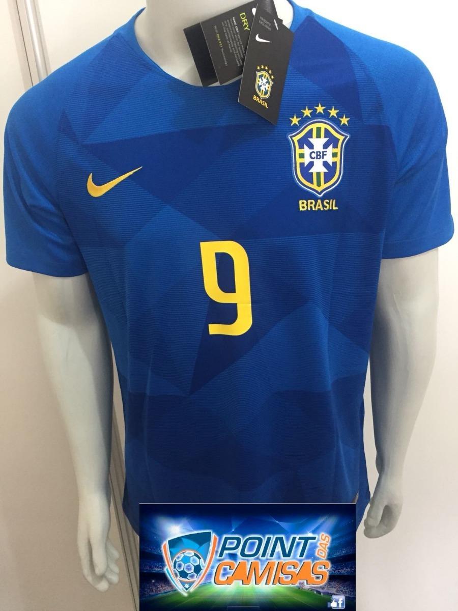 cost charm d0575 13a69 camisa nike seleção brasil away 2018 gabriel jesus 9  oficial. Carregando ... caa1748cef551