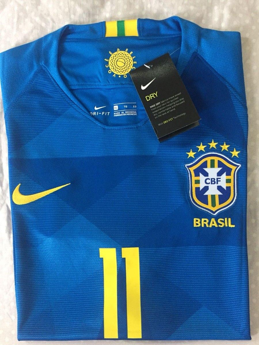 bb1b4a2f43 2 camisa nike seleção brasil away 2018 p. coutinho 11 oficial. Carregando  zoom.