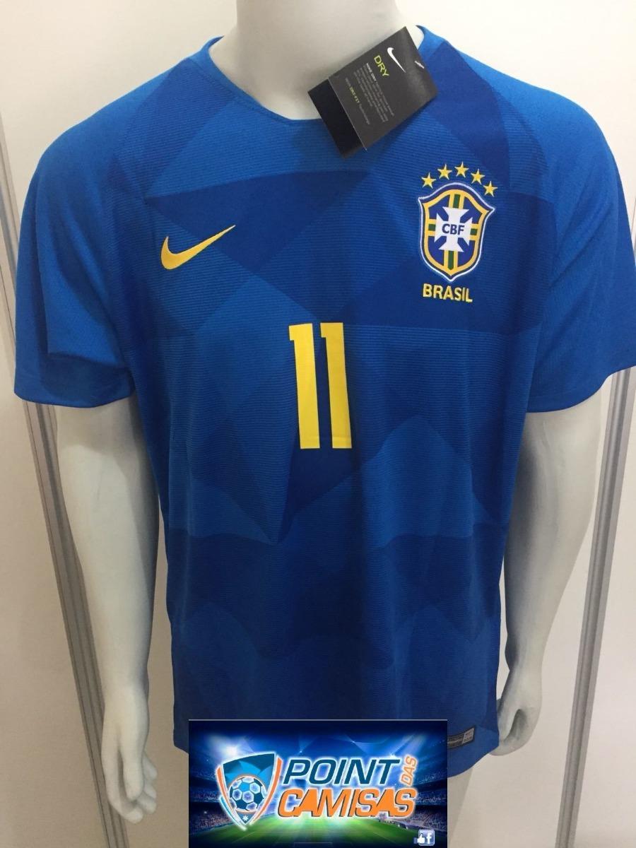 camisa nike seleção brasil away 2018 p. coutinho 11 oficial. Carregando  zoom. 9ddbb2a29b684