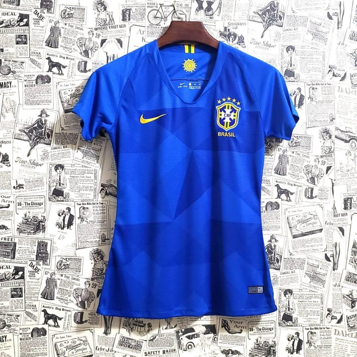 8b0c12e02b camisa nike seleção brasil away feminina oficial copa russia. Carregando  zoom.