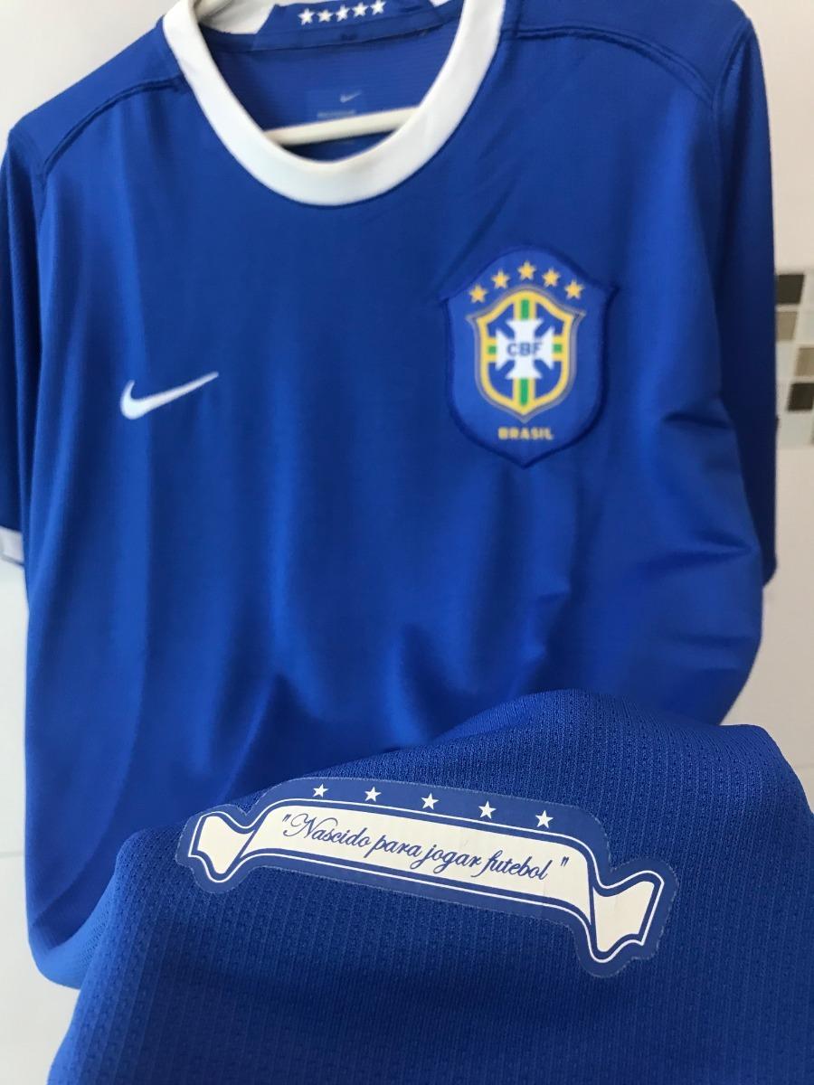 297fa36483 camisa nike seleção brasil copa 2006 azul. Carregando zoom.