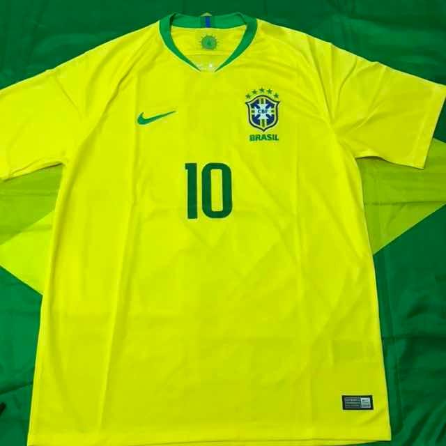 2c502459642f2 Camisa Nike Seleção Brasil Futebol Cbf Copa 2018 N10 Neymar - R  170 ...