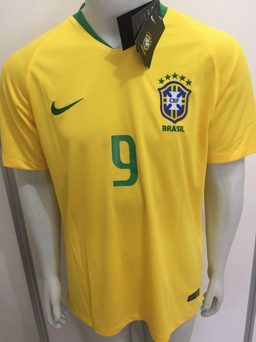 ... Carregando zoom. best selling 2b5b7 7b048 camisa nike seleção brasil  home 2018 gabriel jesus 9 oficial. 5cb14627e6e46
