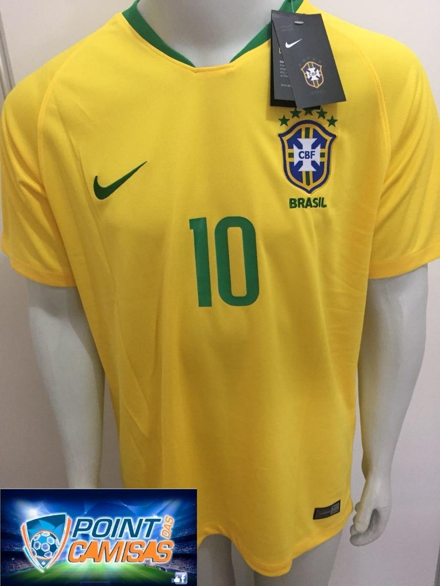 b229febff1521 camisa nike seleção brasil home 2018 neymar jr 10 oficial. Carregando zoom.