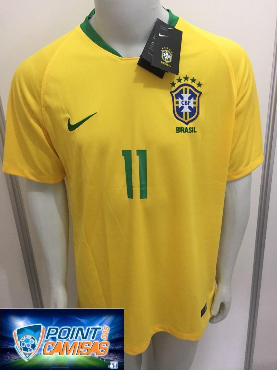 camisa nike seleção brasil home 2018 p. coutinho 11 oficial. Carregando  zoom. b40bd2d4bbb6f