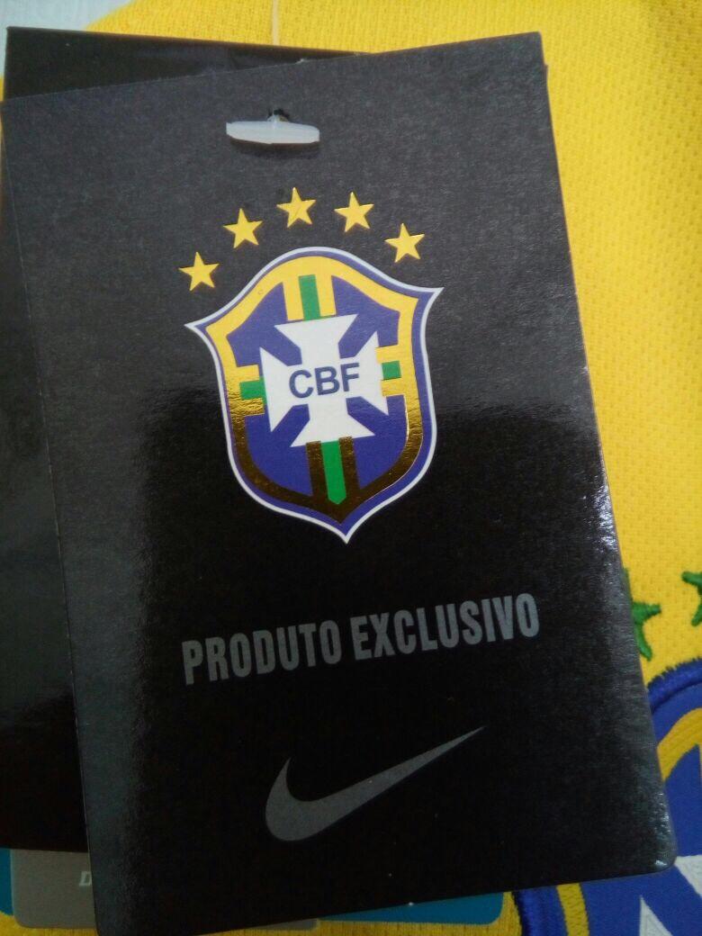 camisa nike seleção brasil i s nº torcedor - amarela. Carregando zoom. e6ea91799a8cb