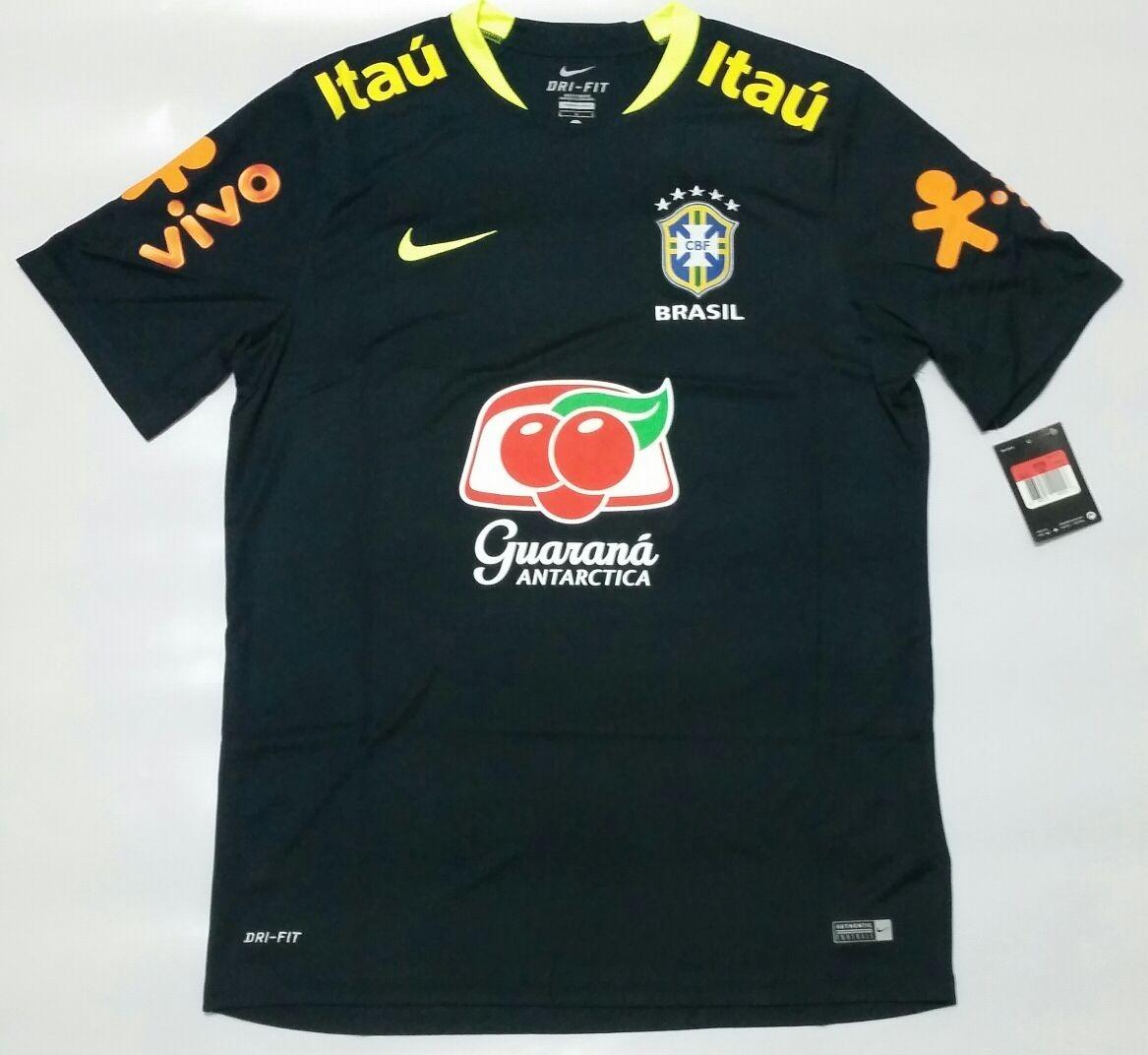 2e1c1d5fd37db camisa nike seleção brasileira de treino preta 2017. Carregando zoom.
