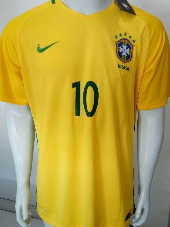 camisa nike seleção brasileira neymar jr oficial - amarela. Carregando zoom. bda76ef57eba7