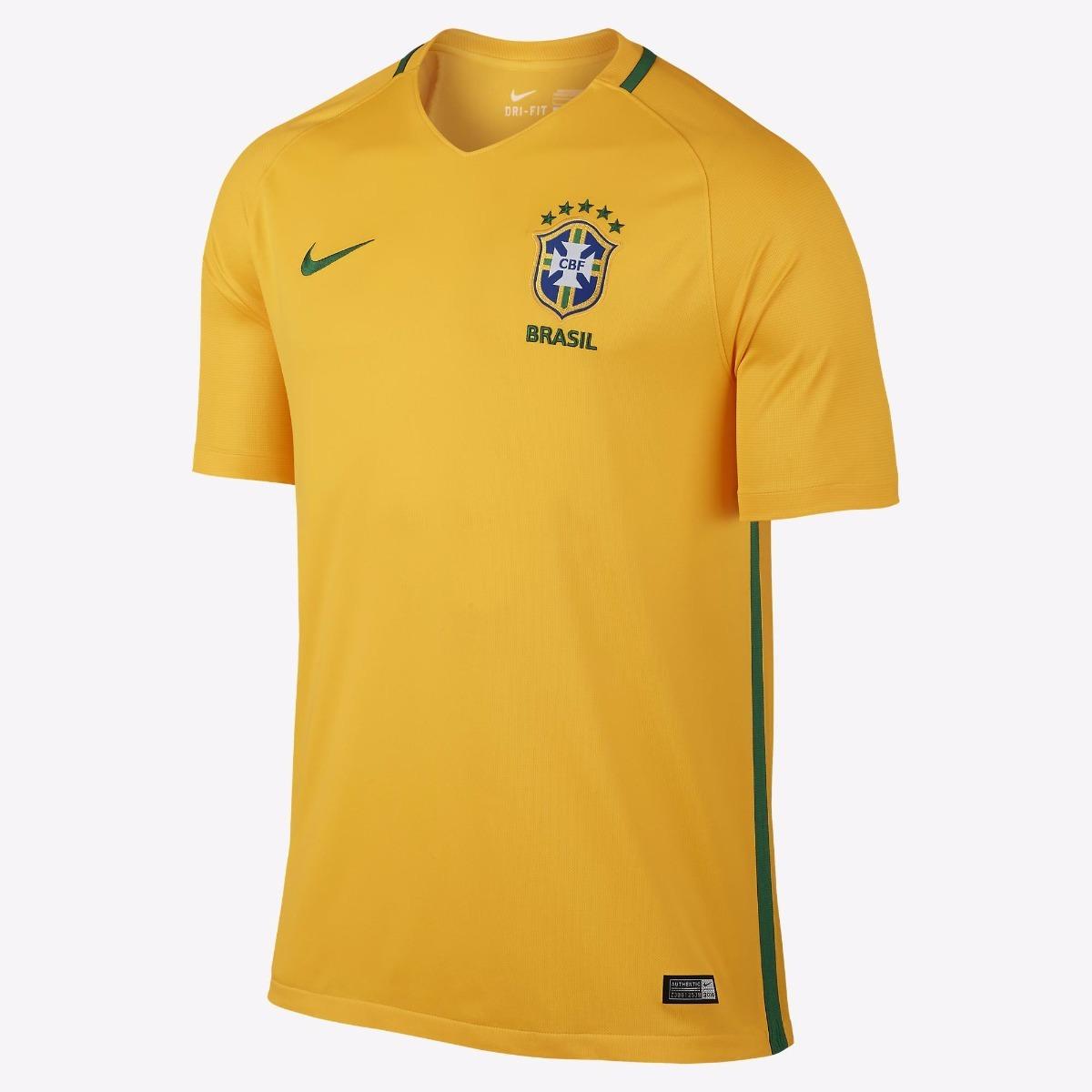 ffa48feed8 camisa nike seleção brasileira oficial 2017- 2018 amarelinha. Carregando  zoom.