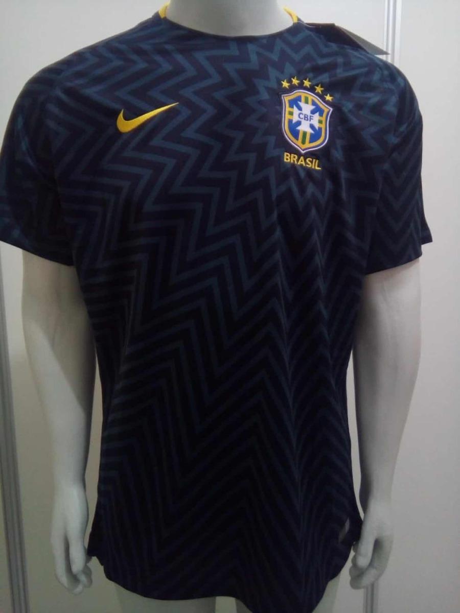 camisa nike seleção brasileira pré jogo oficial copa russia. Carregando  zoom. 9f497451ab26f