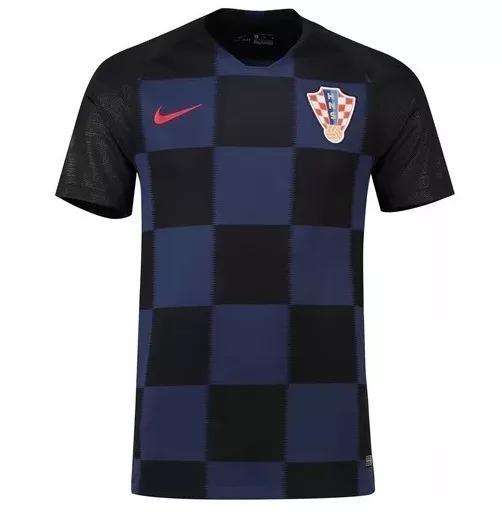 Camisa Nike Seleção Da Croácia Preto roxo Oficial Top! - R  199 066e10eb1f731