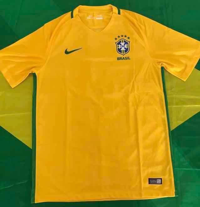 80fb29d9cd128 Camisa Nike Seleção Olímpica Brasil Futebol Cbf 2016 Jesus - R  230 ...