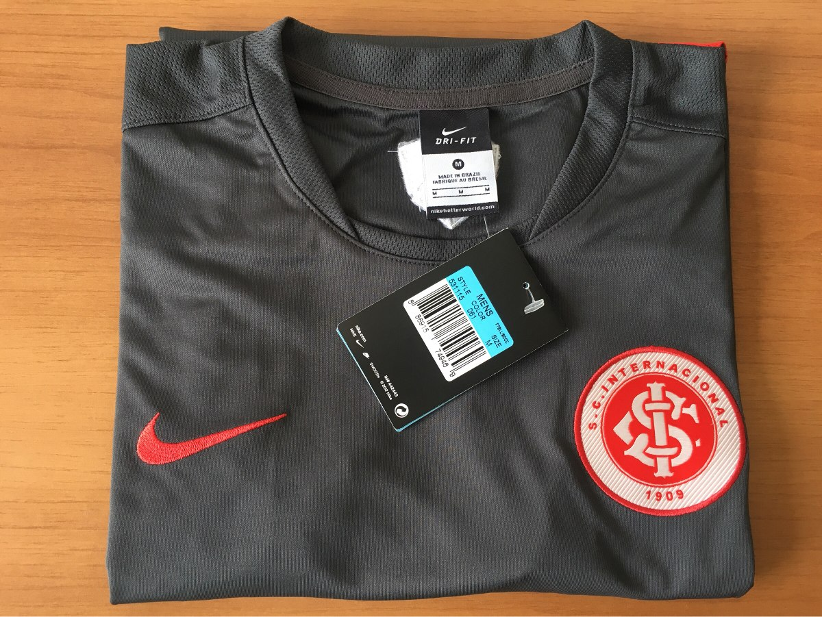 c2ad18db203 camisa nike - treino internacional- original cinza  vermelho. Carregando  zoom.