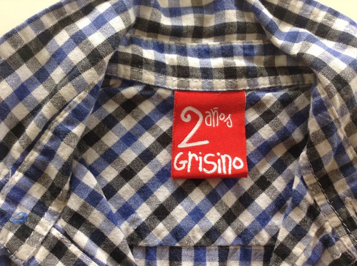camisa niños marca grisino talle 2  impecable