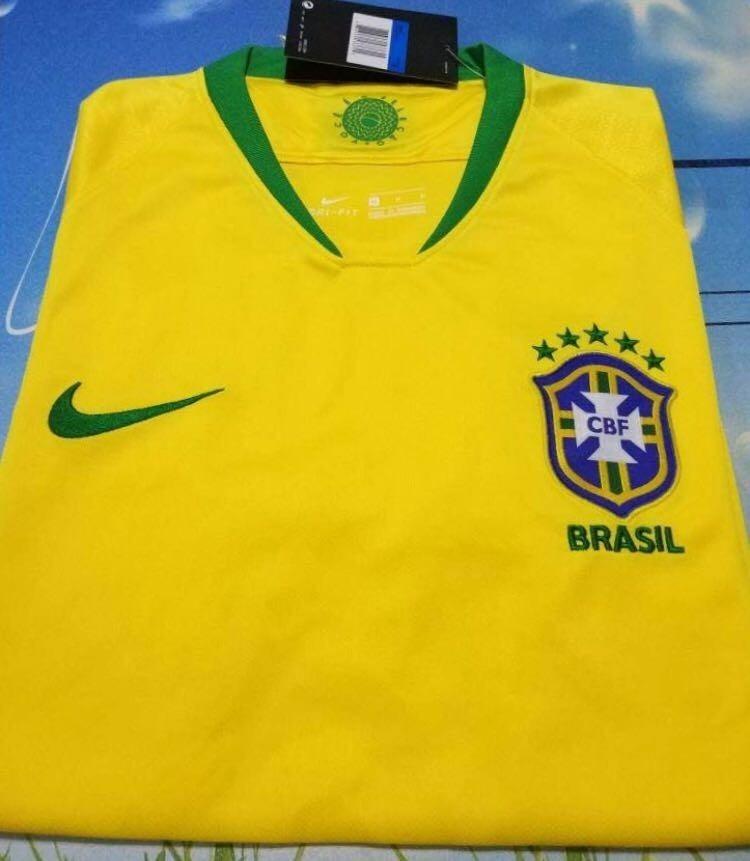 c53eadd5bb Camisa Nova Amarela Da Seleção Brasileira Copa Frete Gratis - R  120 ...